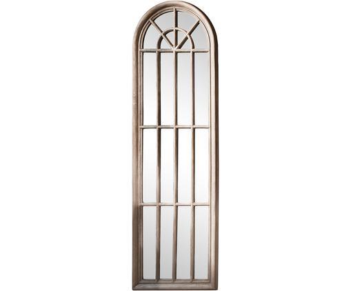 Anlehnspiegel Curtis mit Paulowniaholz-Rahmen, Rahmen: Paulowniaholz, beschichte, Spiegelfläche: Spiegelglas, Beige, 60 x 180 cm