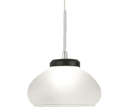 Kleine LED Pendelleuchte Arabella aus Opalglas, Lampenschirm: Opalglas, Weiß, Schwarz, Ø 14 x H 10 cm