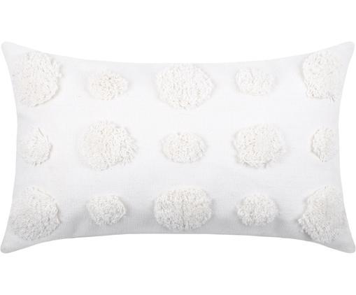 Coussin à texture en relief Sudda, Blanc