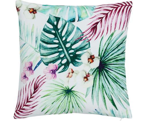 Kissenhülle Geena mit tropischem Muster in Aquarelloptik, 100% Baumwolle, Mehrfarbig, 40 x 40 cm