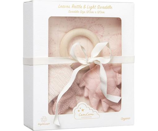 Geschenk-Set Dandelion aus Bio-Baumwolle, 2-tlg., Bezug: Bio-Baumwolle, GOTS-zerti, Rosa, 18 x 21 cm