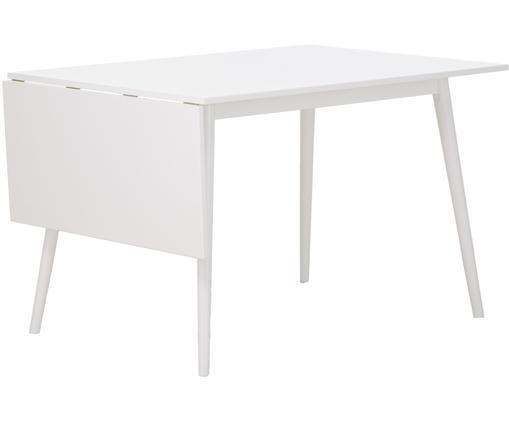 Stół rozsuwany do jadalni Trym, Blat: biały Nogi: biały