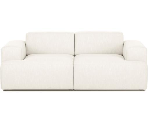 Sofa Melva (2-Sitzer), Bezug: Polyester 35.000 Scheuert, Gestell: Massives Kiefernholz, Spa, Füße: Kiefernholz, Webstoff Beige, B 200 x T 101 cm