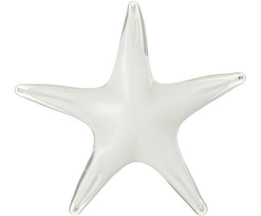 Briefbeschwerer Seastar, Glas, Weiß, 18 x 4 cm