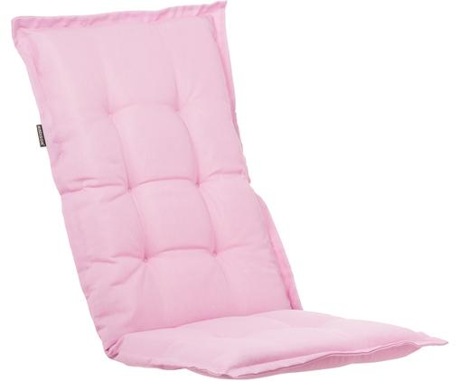 Einfarbige Hochlehner-Stuhlauflage Panama, Bezug: 50% Baumwolle, 50%Polyes, Pastellrosa, 50 x 123 cm