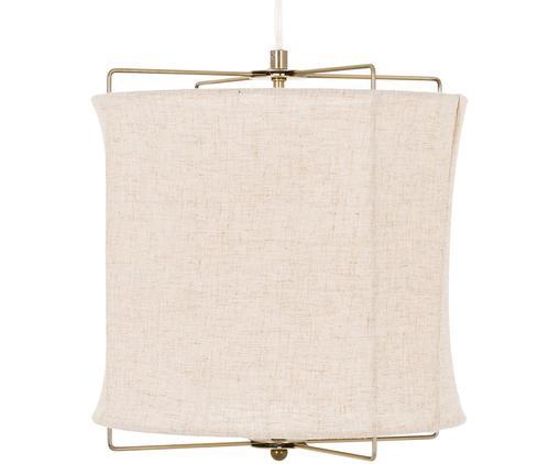Lámpara de techo de lino Clouds, Pantalla: lino, Cable: plástico, Gris pardo, ∅ 30 x Al 30 cm