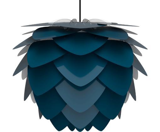 Lampada a sospensione a LED Aluvia, Paralume: alluminio verniciato, Baldacchino: acciaio verniciato, Blu, Ø 40 x Alt. 30 cm