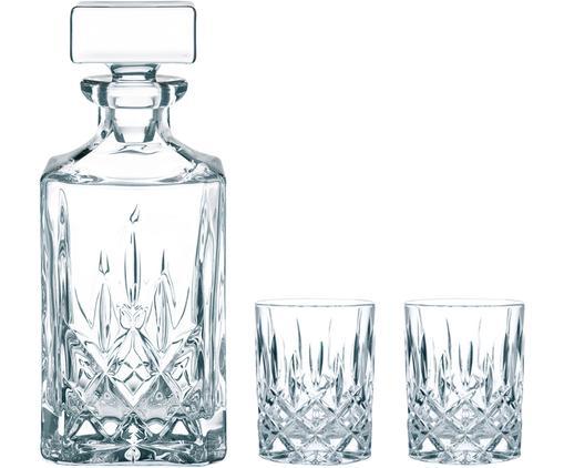 Komplet do whisky ze szkła kryształowego Noblesse, 3elem., Transparentny