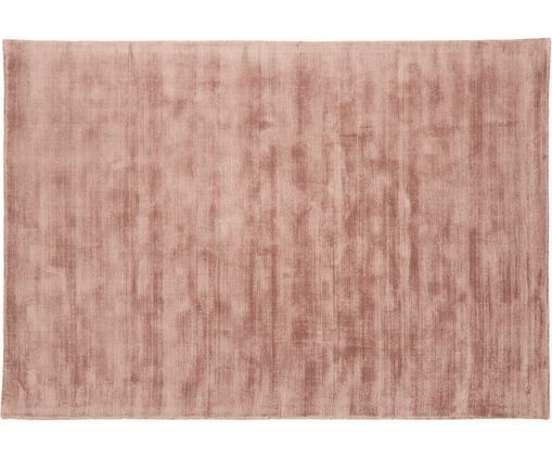 Handgewebter Viskoseteppich Jane, Flor: 100% Viskose, Terrakotta, B 160 x L 230 cm (Größe M)