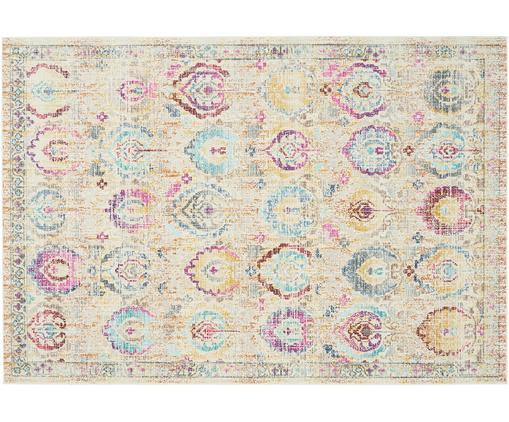 Tappeto in polipropilene a pelo corto Kashan Vintage, Retro: Latex, Beige, multicolore, Larg. 240 x Lung. 300 cm (taglia L)