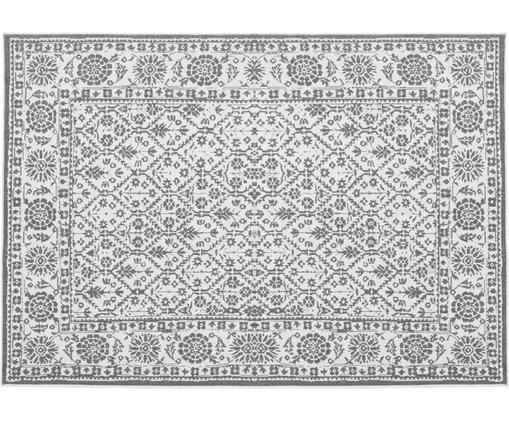 In- und Outdoor-Wendeteppich Curacao im Vintage Style, Grau/Creme, Grau, Cremefarben, B 80 x L 150 cm (Größe XS)