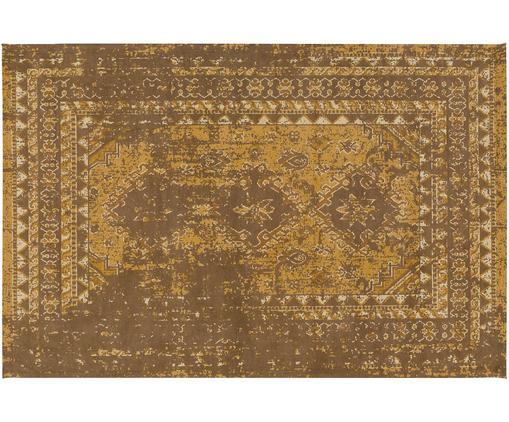 Ręcznie tkany dywan szenilowy Rebel, Żółty, kremowy, brązowy, S 200 x D 300 cm