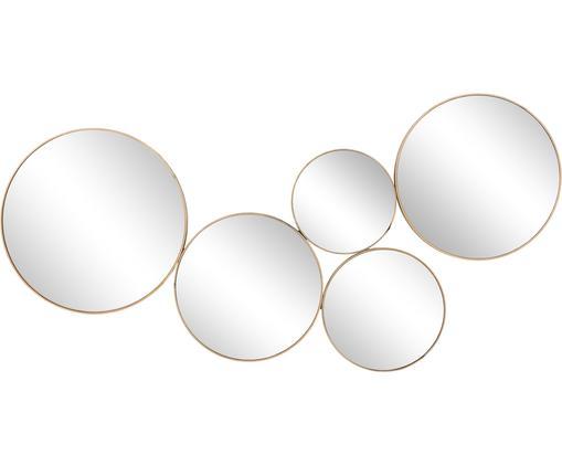 Specchio da parete Kara, Cornice: metallo verniciato con ev, Superficie dello specchio: vetro a specchio, Ottone, L 94 x A 45 cm