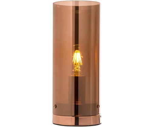 Lampada da tavolo Storm, Paralume: rame trasparente Base della lampada: nichel