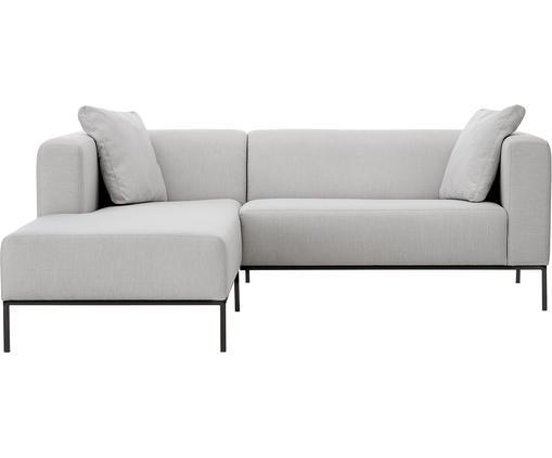 Canapé d'angle Carrie, Tissu gris