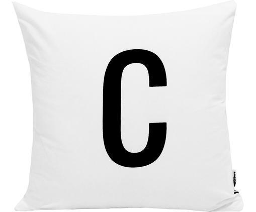 Poszewka na poduszkę Alphabet (warianty od A do Z), Poliester, Czarny, biały, Poszewka na poduszkę C