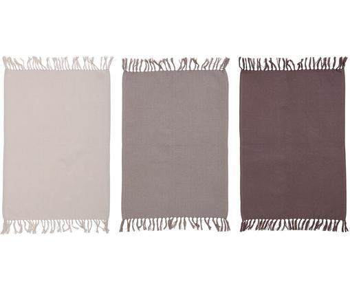 Set strofinacci Rike, 3 pz., Beige chiaro, Beige, marrone