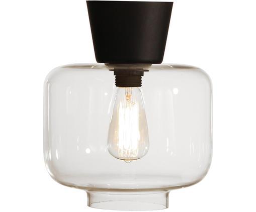Lampa sufitowa Ritz, Czarny, transparentny, Ø 25 x 28 cm