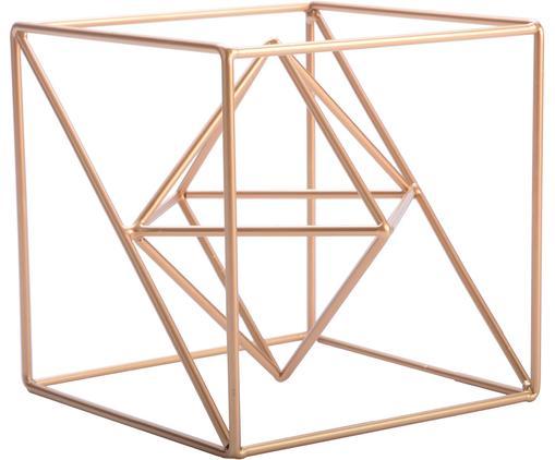 Dekoracja Geometric, Metal powlekany, Odcienie mosiądzu, B 15 cm