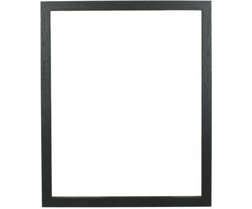 Bilderrahmen Seril, Rahmen: Mitteldichte Holzfaserpla, Front: Glas, Schwarz, 22 x 27 cm