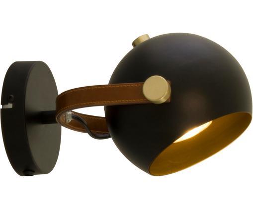 Applique en métal noir Bow, Noir