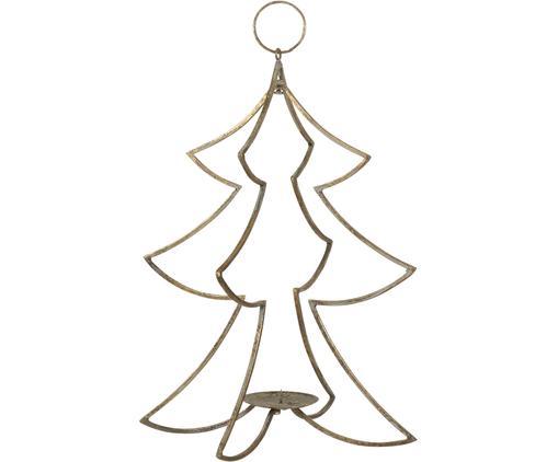 Candelabro natalizio dorato Glavia, Metallo rivestito, Ottonato, Ø 24 x Alt. 44 cm