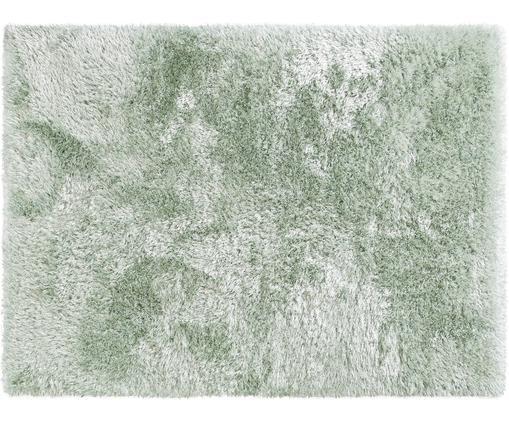 Tappeto a pelo lungo effetto lucido Lea, 50% poliestere, 50% polipropilene, Verde, Larg. 300  x Lung. 400 cm (taglia XL)