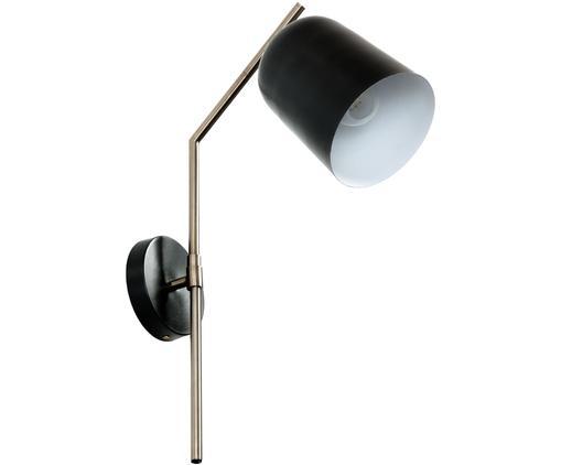 Lampada da parete Pryia, Metallo, Nero, Larg. 15 x Alt. 54 cm