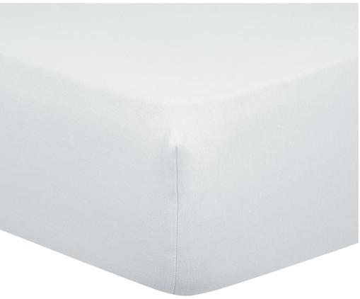 Lenzuolo con angoli Biba, flanella, Tessuto: flanella, Grigio chiaro, Larg. 90 x Lung. 200 cm