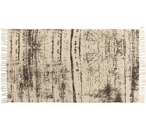 Teppich Aaron, Baumwolle, Creme, Schwarz, B 90 x L 150 cm (Größe XS)