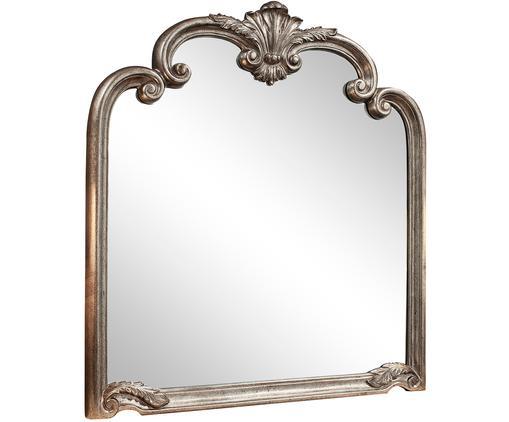 Specchio da parete Palazzo, Cornice: resina sintetica, Superficie dello specchio: lastra di vetro, Argentato, Larg. 105 x Alt. 116 cm