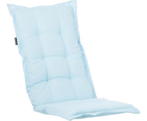 Einfarbige Hochlehner-Stuhlauflage Panama, Bezug: 50% Baumwolle, 50%Polyes, Hellblau, 50 x 123 cm