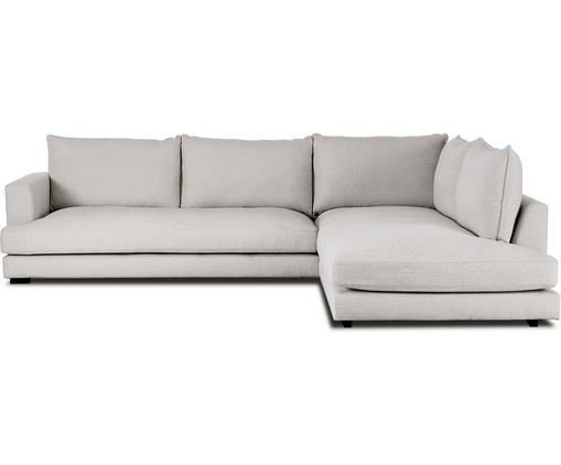 Grand canapé d'angle Tribeca, Tissu gris-beige