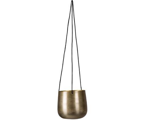 Hangende plantenpot Menton, Goudkleurig, Ø 12 x H 13 cm