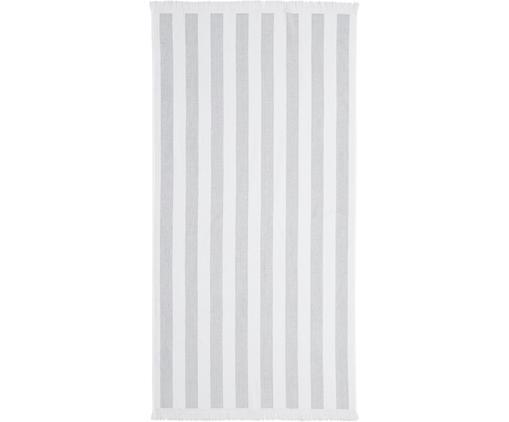 Ręcznik plażowy Mare, Bawełna Niska gramatura 380 g/m², Szary, biały, S 80 x D 160 cm