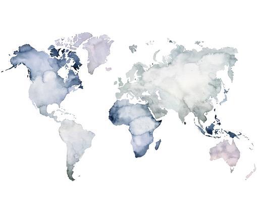 Fototapete Worldmap, Hellblau, Hellviolet, Hellgrau