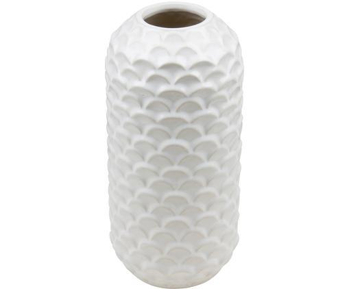 Vase Liguria aus Steingut, Steingut, glasiert, Weiß, Ø 14 x H 29 cm