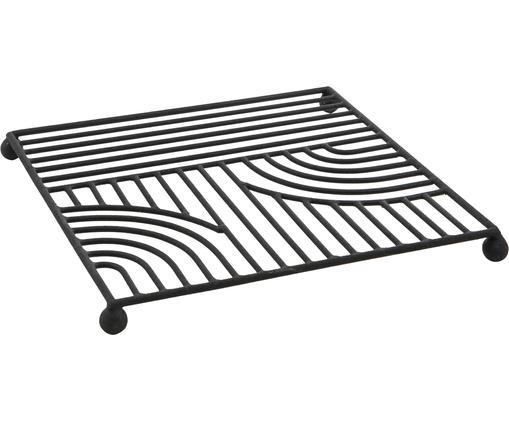Podstawka Maze, Metal lakierowany, Czarny, S 20 x D 20 cm