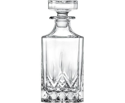 Bottiglia in cristallo con motivo a rilievo Opera, Vetro di cristallo, Trasparente, Alt. 22 cm