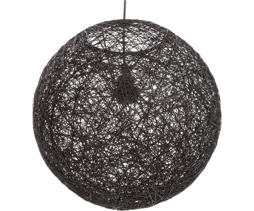 Pendelleuchte Tvist aus Papier, Lampenschirm: Papier, Baldachin: Kunststoff, Schwarz, Ø 38 x H 36 cm