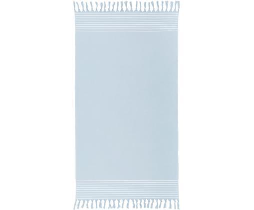 Fouta ze spodem frotte Freddy, Jasny niebieski, S 100 x D 180 cm