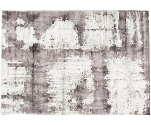 Design Viskoseteppich Lizzy, Flor: 100% Viskose, Creme, Grau, Dunkelgrau, B 160 x L 230 cm (Größe M)
