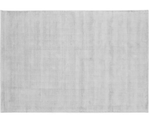 Tappeto in viscosa tessuto a mano Jane, Retro: 100% cotone, Grigio argento, Larg.160 x Lung. 230 cm  (taglia M)