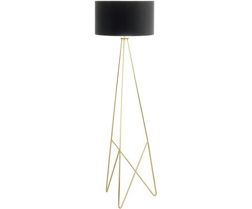 Lampada da terra in oro Camporale, Base della lampada: acciaio, verniciato, Nero, dorato, Ø 45 x Alt. 154 cm