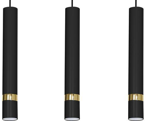 Pendelleuchte Joker, Schwarz, Messingfarben, 60 x 50 cm