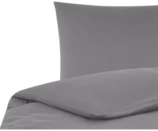 Baumwollsatin-Bettwäsche Comfort in Dunkelgrau, Webart: Satin Fadendichte 250 TC,, Dunkelgrau, 135 x 200 cm + 1 Kissen 80 x 80 cm