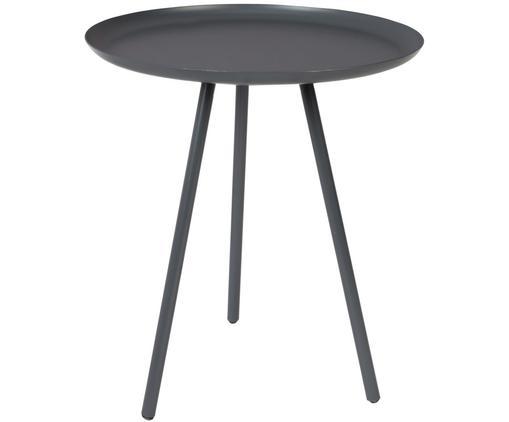 Tavolino in metallo Frost, Metallo verniciato a polvere, Antracite, Ø 39 x Alt. 45 cm
