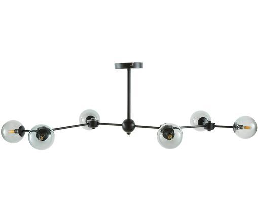Deckenleuchte Aurelia in Schwarz, Schwarz, Grau, Ø 110 x H 32 cm