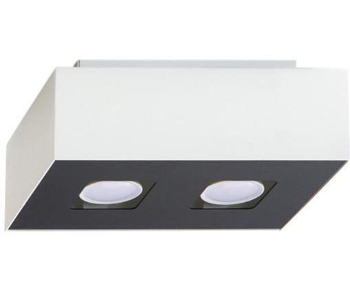 Kleine Deckenleuchte Hydra, Lampenschirm: Stahl, beschichtet, Baldachin: Stahl, beschichtet, Weiß, Schwarz, 24 x 11 cm