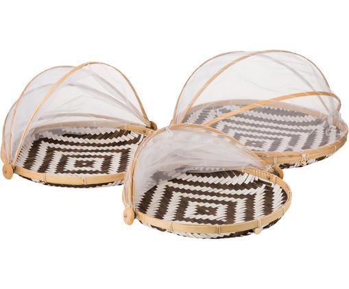 Set di 3 cestini portaoggetti fatti a mano Set Aiko, Bambù, Beige, Diverse dimensioni
